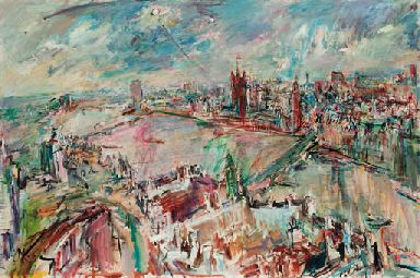London with the Houses of Parliament - Oskar Kokoschka