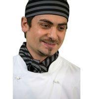 CH913 - Black/Grey Print Chefs Hat