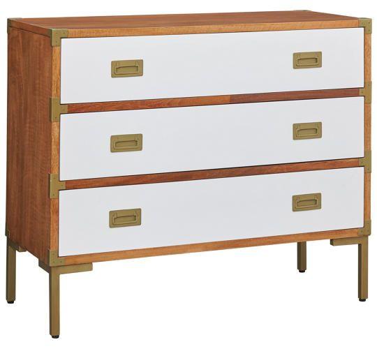 Monty Brass Leg Chest   Art Van Furniture