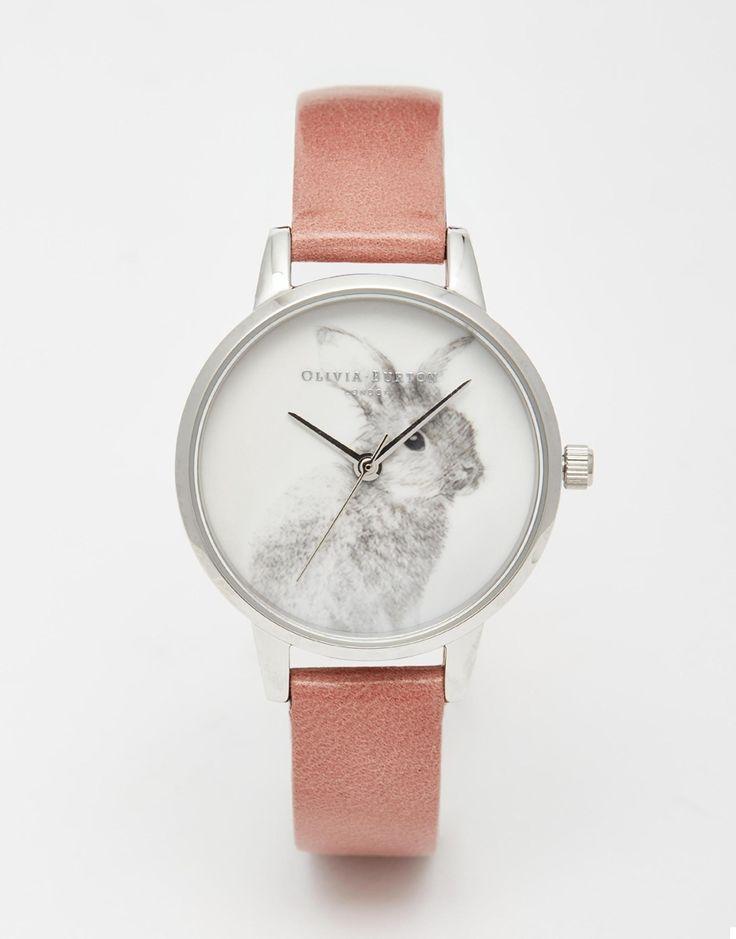 Olivia Burton – Woodland Bunny – Armbanduhr mit großem Zifferblatt