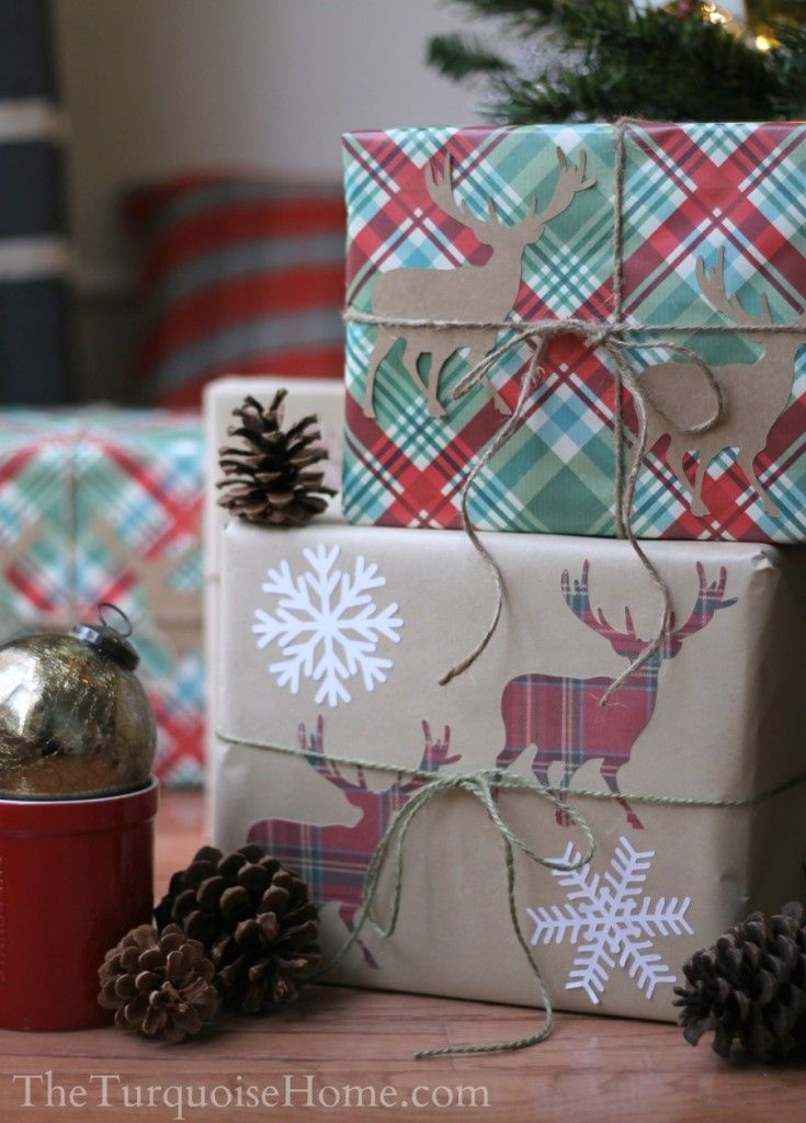 Simple Gift Wrapping Ideas!!! Bebe'!!! Cute applique cut outs in coordinating paper!!!