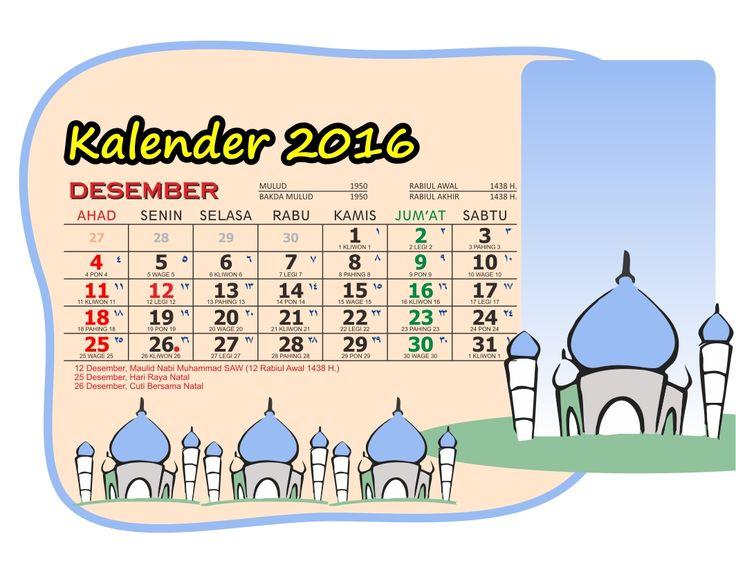 Kalender 2016 Meja Saku Masjid Kartun Lengkap Libur Nasional Jawa Arab. Download Calendar Kalender 2016 Gratis. Cetak Kalender Karawang Ayuprint