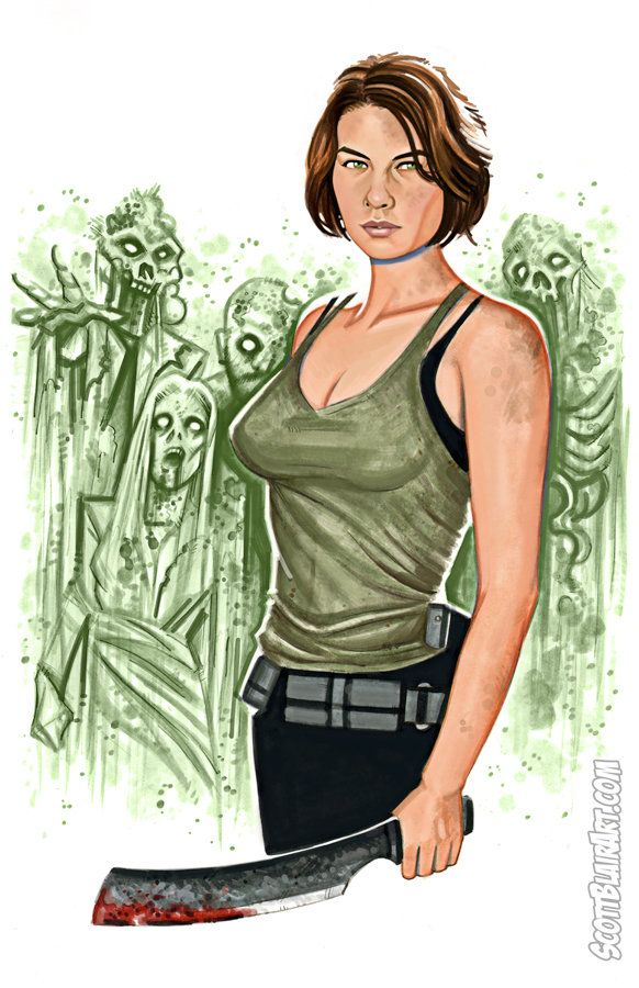 Maggie Walking Dead by scottblairart on deviantART