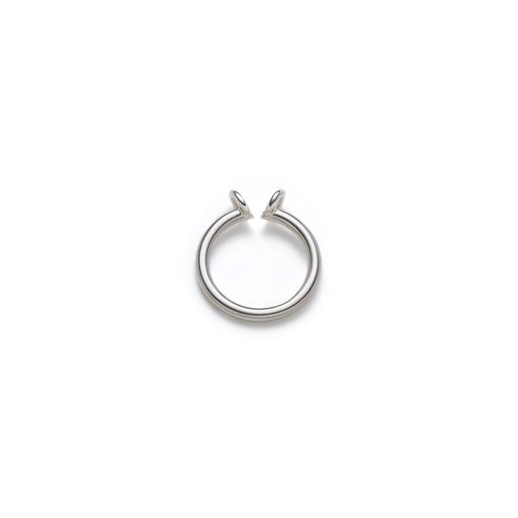 """Bague ouverture fabriquée en argent sterling poli. Collection """"Axel"""" -  atelierlynnlegare.com"""
