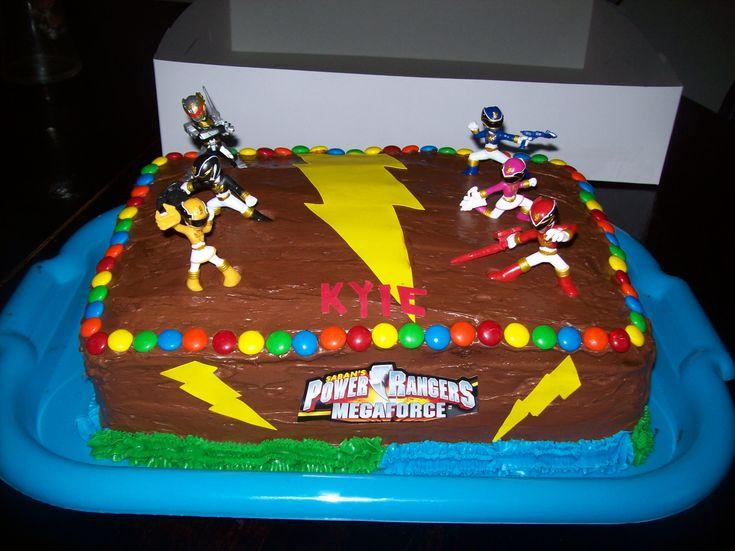 Homemade Power Ranger Cake