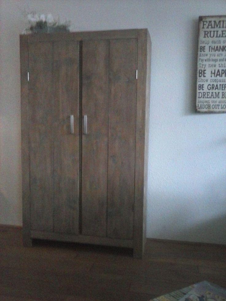 Slaapkamer Kast Steigerhout : Steigerhout slaapkamer kast : kast van nieuw steigerhout, gebeitst en