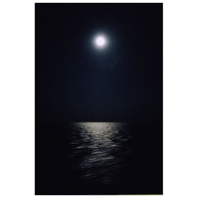 One of my favorite sights ~ the full moon illuminating the calm lake.