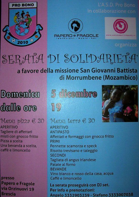 Una serata a Brescia per il Mozambico  http://www.panesalamina.com/2010/282-una-serata-per-il-mozambico.html