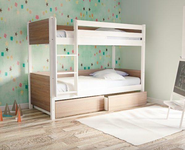 Παιδικό κρεβάτι κουκέτα DREAM λευκό οξιά 842