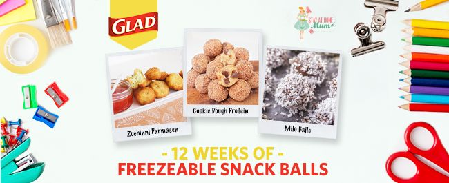 We atStay at Home Mumare big fans of freezer cooking. It is so easy (and cheap)to whip up a batch or two of your favourite snacksto freeze, store inGLAD Snap Lock Bagsand take out each …