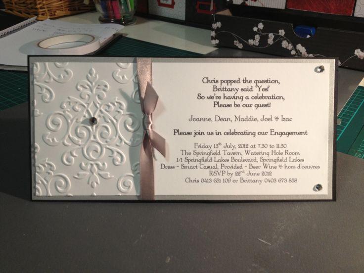 Black & white themed Engagement Invitation