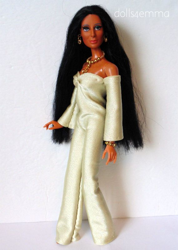 Mego CHER Doll Handmade Clothes Disco Gold JUMPSUIT &JEWELRY Fashion NO DOLL d4e | eBay