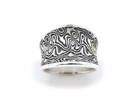 Sterling Silver Wave Ring Illusion Ring by SuttonSmithworks