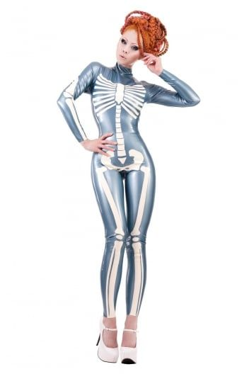 Palermo Skeleton Latex Rubber Catsuit
