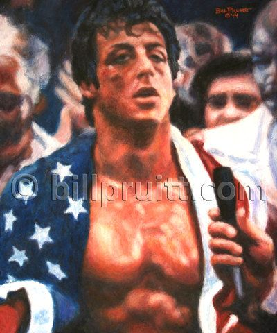 Sylvester Stallone Rocky Balboa Rocky 4 art print by billpruittart #Rocky4 #RockyBalboa