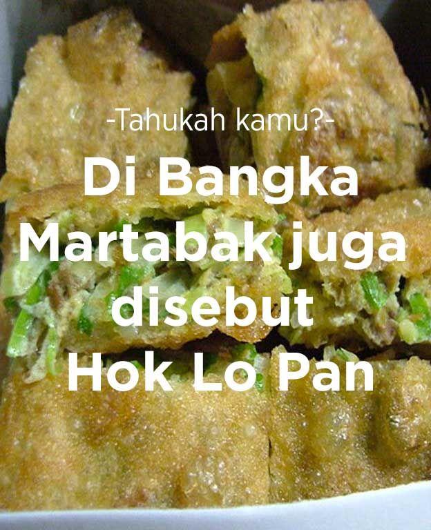 Di Bangka, martabak juga disebut 'Hok Lo Pan'.  #FoodXploration #BerkahBanget
