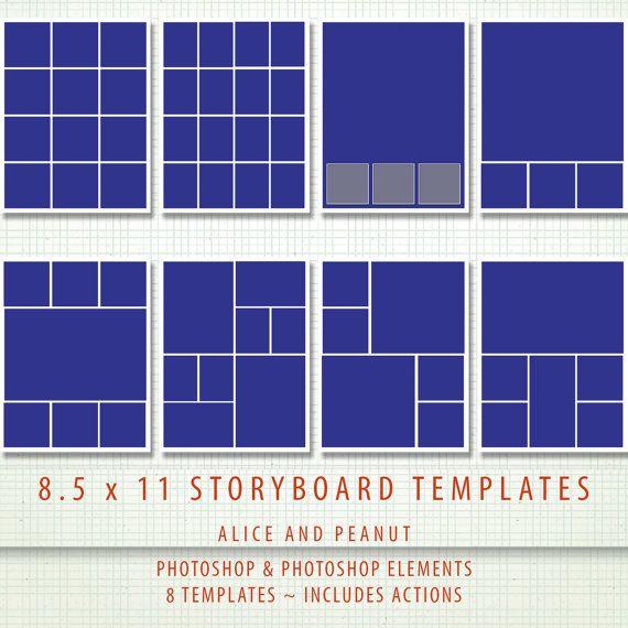 8 5x11 8 x psd storyboard photographer digital scrapbook