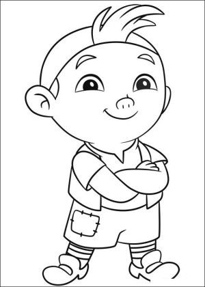 Jake and pirates coloring page 2