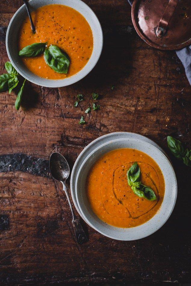 Paahdettu paprika-tomaattikeitto (V, GF) – Viimeistä murua myöten