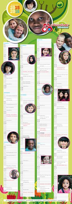 Schoolkalender voor Totaalschool De Vuurvlinder 2015 - 2016