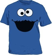 Cookie monster t-shirt - My husband asked for a low-key costume after being Snow Prince last year.  Haha.  :): Cookies Monsters, Cookie Monsters,  T-Shirt, Low Keys Costumes