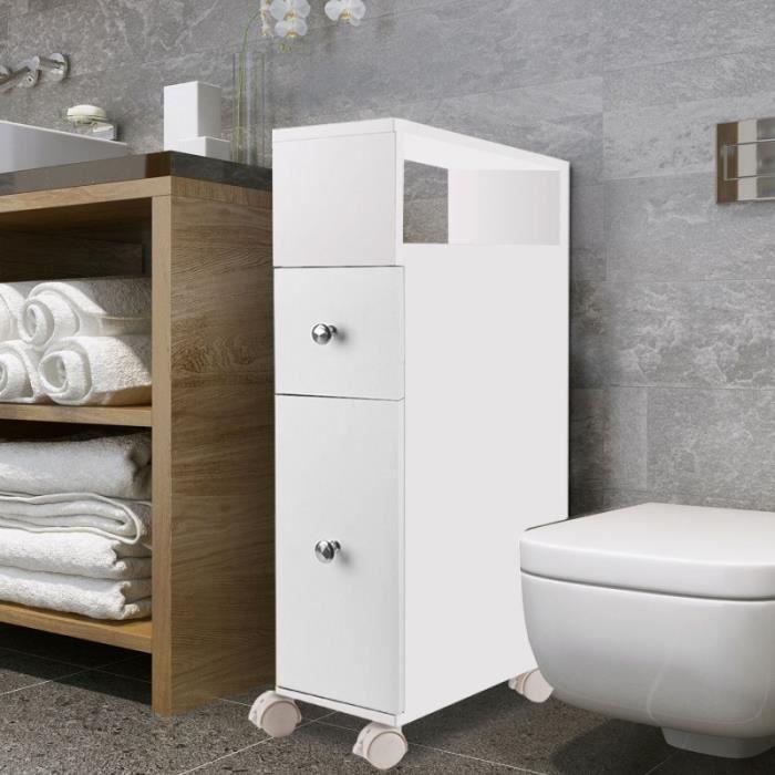 Ideal Pour Amenager Les Petits Espaces Comme Les Toilettes Ou La Salle De Bain Ce Meuble De Rangement Bas Et Meuble Rangement Wc Meuble Rangement Rangement Wc