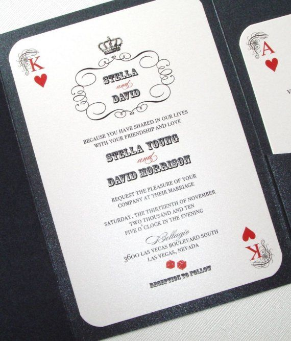 the 25+ best ideas about vegas wedding invitations on pinterest, Wedding invitations