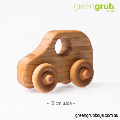WOODEN TOY CARS - MINI COOPER S STYLE
