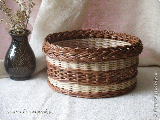 Поделка изделие Плетение июль Трубочки бумажные фото 1