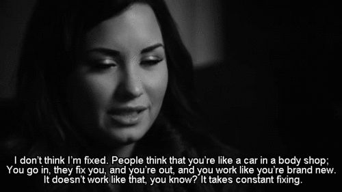 Pin for Later: 23 Demi Lovato Quotes That Will Drag You Out of Your Darkest Moments On Recovery and Staying Strong