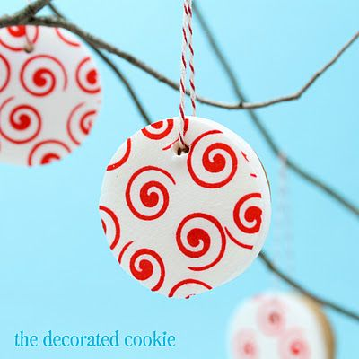 ornament cookies for Valentine's Day