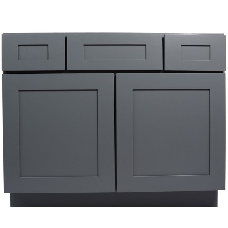 Awesome 42 Inch Bathroom Vanity Cabinet In Solid Wood Shaker Gray With Soft Close  Drawers Are Doors