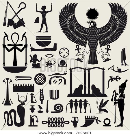 Egyptian symbols...                                                                                                                                                                                 Plus