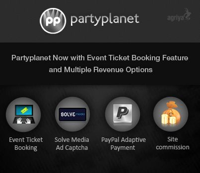 @Agriya PartyPlanet- clubplanet clone now features with event ticket booking management and multiple revenue options  http://blogs.agriya.com/partyplanet-now-features-with-event-ticket-booking-management-and-multiple-revenue-options