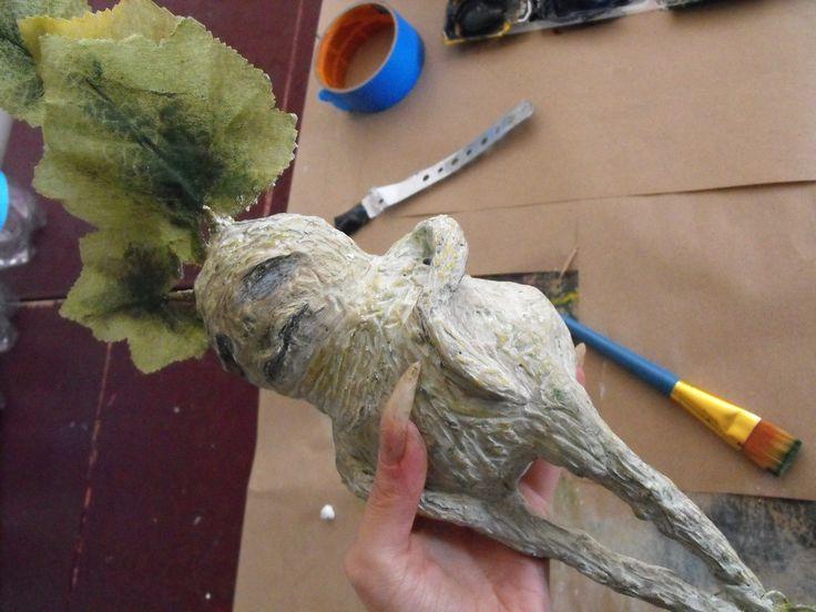 prop Halloween bricolage.  Sculptée racine de mandragore.  le style Harry Potter.