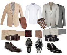 ESTILO CLÁSSICO: Os sapatos devem ser em um tom neutro que se harmonize com a cor da calça e meias. Para o estilo clássico, o homem deve usar relógios com pulseiras de coura ou de metal.