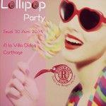 La Lollipop Party , le Jeudi 30 Avril,une soirée de collecte defonds organisée pour le Rotaract ClubTunis les berges du lac. Un concept innovant et inédit pour satisfaire lesdésires des jeunes tunisiens jusqu'au bout dela nuit. Pleins de surprises attendent les invités tout aulong de la soirée et bien sur une décorationet un cadre original [...]