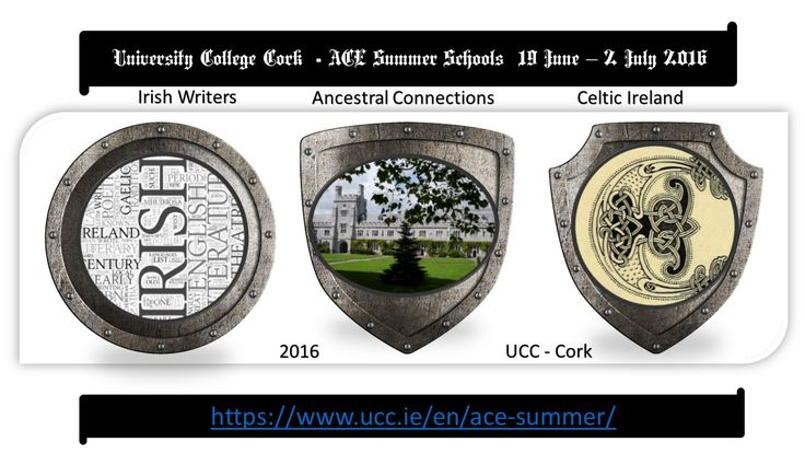 Summer schools for 2016 at UCC
