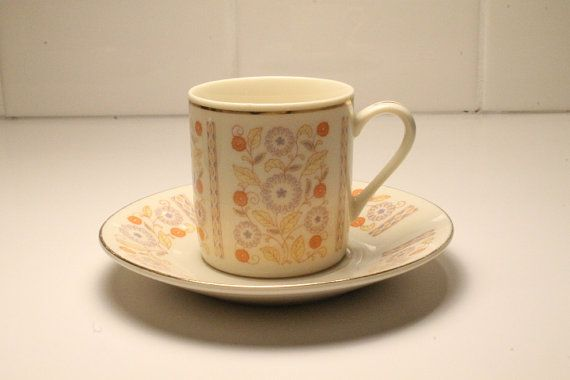 China Cup and Saucer Budlet China Cup and by ClockworkRummage, $10.00