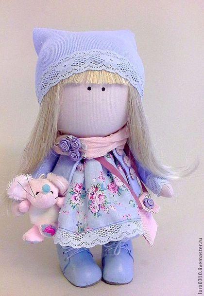 Элен - интерьерная кукла,авторская ручная работа,голубая,нежная,романтичный подарок
