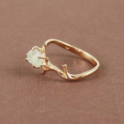 Natural green amethyst gem set in rose gold ...looooooveeee