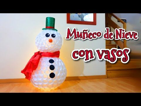 1000 ideas about plastic cup snowman on pinterest - Manualidades con tapones de plastico ...