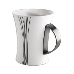 New Black and white coffee mug with a stainless steel accent * Stainless Steel * - Walmart.com