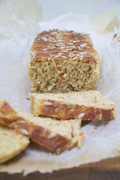 Kalljäst morotsbröd med vetegroddar