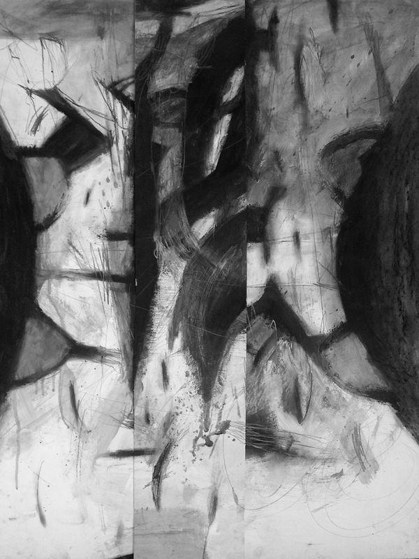 Pál Csaba, Egészrész 03,100x70cm, vegyes, papír