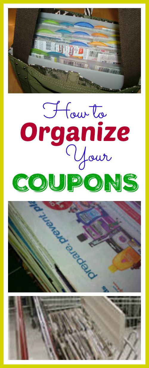 How to Organize Your Coupons - Choose from several tried and methods to keep your coupons neat and organized so you can save more money!
