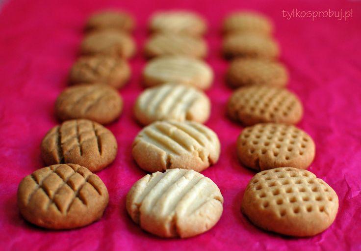 Tylko Spróbuj: Ciasteczka maślane w 3 odsłonach* Sprawdzony przepis. Pyszne ciacha wyszły. Mniam :)