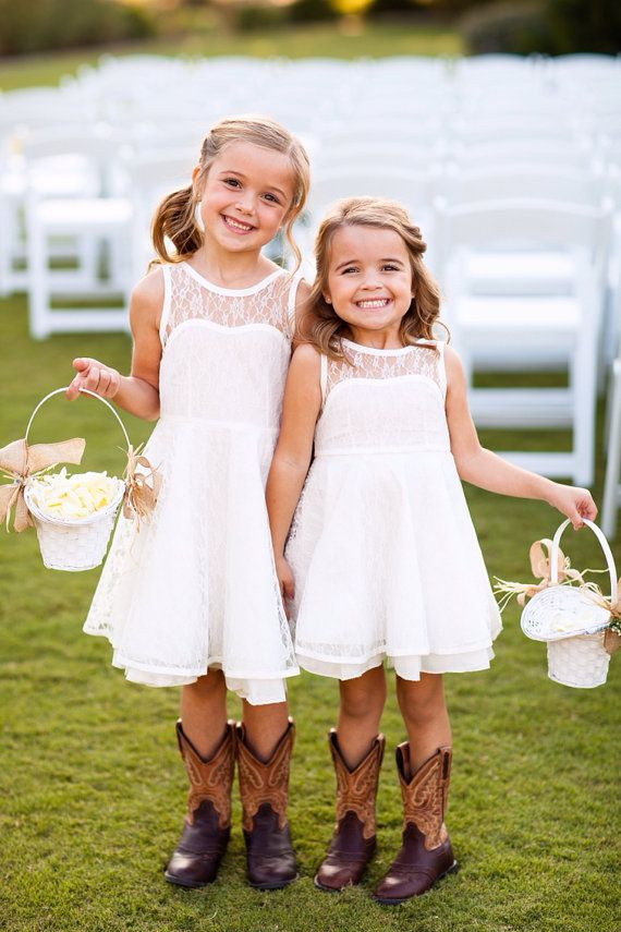 Flower girls with boots.love it #ballaflorists
