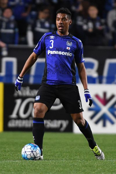 Fabio Da Silva of Gamba Osaka in action during the AFC Champions League Group H match between Gamba Osaka and Jiangsu FC at Suita City Football Stadium on March 15, 2017 in Suita, Japan.