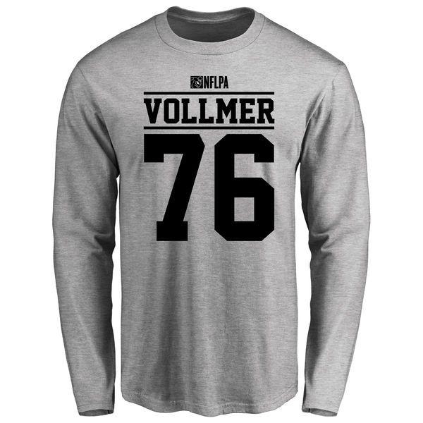 Sebastian Vollmer Player Issued Long Sleeve T-Shirt - Ash - $25.95